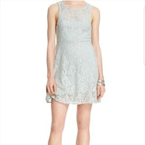 Free People Floral Fit & Flare Lace Dress
